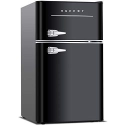 KUPPET Retro Mini Refrigerator 2-Door Compact Refrigerator for Dorm, Garage, Camper, Basement or ...