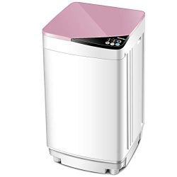 Giantex Full-Automatic Washing Machine Portable Washer and Spin Dryer 10 lbs Capacity Compact La ...