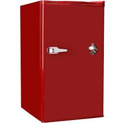 Tavata Compact Refrigerator – 3.2 Cu Ft Countertop Single Door Mini Fridge with Bottle Ope ...
