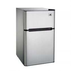 Igloo FR834 3.2 cu. ft. 2-Door Reversible Refrigerator and Freezer, Stainless Steel, Silver by S ...