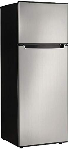 Danby Energy Star 7.3-Cu. Ft. Apartment Size Refrigerator with Top-Mount Freezer in Spotless Ste ...
