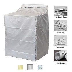 "QLLY Washer/Dryer Cover for Top-loading Machine – Waterproof, Dustproof, Sun-Proof, W29""D28""H43"" ..."