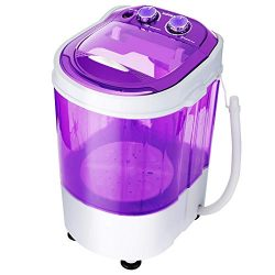 KUPPET Mini Portable Washing Machine for Compact Laundry,Small Semi-Automatic Compact Washer wit ...