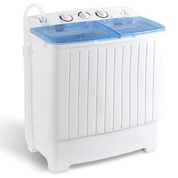 SUPER DEAL 5th Generation Mini Compact Twin Tub Washing Machine 17.6lbs Washer and Spinner 2IN1  ...