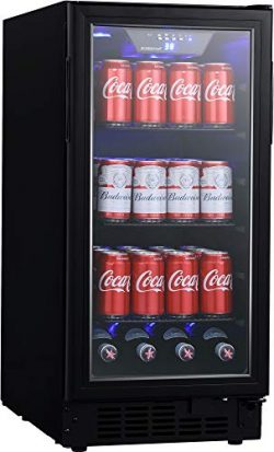 EdgeStar BBR901BL 15 Inch Wide 80 Can Built-in Beverage Center with Slim Design