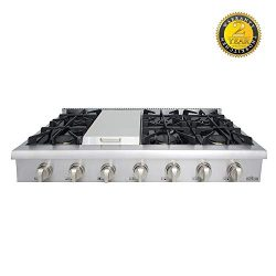 Thor kitchen Gas Rangetop/Cook Top with 6 Sealed Burners 48 – Inch, Stainless Steel HRT4806U