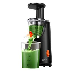 Masticating Juicer IKICH Slow Juicer with 200W Quiet Efficient Motor Compact Design Juicer Machi ...