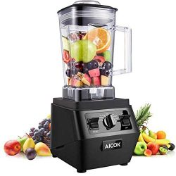 Countertop Blender, Aicok High Speed Blender 1400W Professional Smoothie Blender with 2 Setting  ...