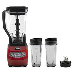 Ninja BL660QCN Professional 72oz Countertop Blender with 1100-Watt, Black/Red (Certified Refurbi ...