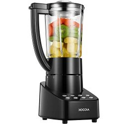 AICOK Blender Smoothie Blender Professional Countertop Blender with Smart Speed Control, 48 Oz G ...