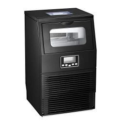 AGLUCKY Commercial Ice Maker Machine, Automatic Ice Maker,Ice Cube Ready in 11mins,8.8lbs Ice St ...