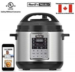 Electric Pressure Cooker 6 Quart Stainless Steel 12 in 1 Programmable Multipot Cooker Duopro Rec ...