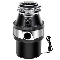 Goplus Garbage Disposal with Cord, 1.0HP 2600RPM Compact Continuous Feed Household Garbage Dispo ...