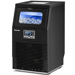 COSTWAY Commercial Ice Maker, 88 LBS/24H Automatic Portable Freestanding Ice Cube Maker Machine  ...