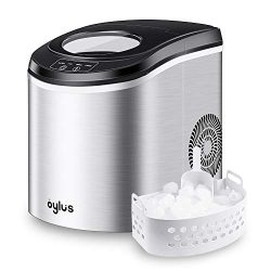 Oylus Stainless Steel Ice Maker Countertop Ice Machine for Home Kitchen Electric Ice Cube Maker  ...