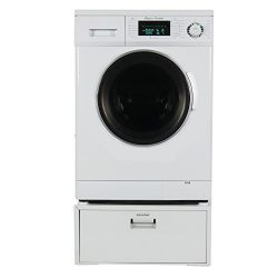 Equator Super Combo Washer-Dryer EZ 4400 11″ High Pedestal with Storage drawer, in White