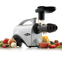 Omega Juicer NC800HDS Juice Extractor and Nutrition Center Creates Fruit Vegetable and Wheatgras ...