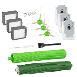 Cabiclean Replacement Parts Compatible with iRobot Roomba i7 i7+/i7 Plus E5 E6, 3 Filters, 3 Sid ...