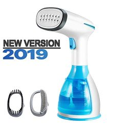 Handheld Garment Steamer, Fast Heat-up Fabric Steamer, Powerful Wrinkle Remover, Clean, Soften a ...