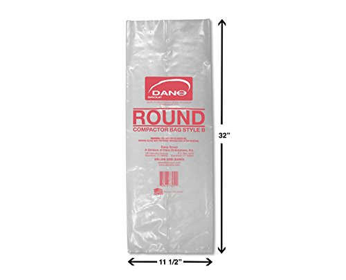 Compactor Bags for Round Container (50 Pack)