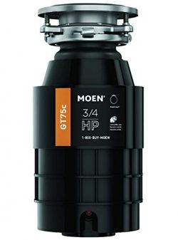 Moen GT75C GT Series 3/4 Horsepower Garbage Disposal, with with Fast Track Technology (Renewed)