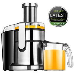 Juicer Machines, SOMOYA JuicerElectric Citrus JuicerMachines Easy to Clean, 2019 Smart LCD Jui ...