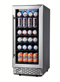 Phiestina 15 Inch Beverage Cooler Refrigerator – 96 Can Built-in or Free Standing Beverage ...