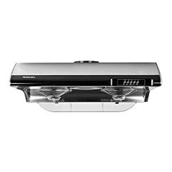 Robanku 30″ Under Cabinet Range Hood, 860FCM Stainless Steel Wall-Mounted Kitchen Range Ho ...