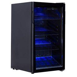 BeUniqueToday 120 Can Beverage Mini Refrigerator With Glass Door, Beverage Mini Refrigerator Wit ...