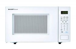 SHARP ZSMC1131CW Carousel 1.1 Cu. Ft. 1000W Countertop Microwave Oven in White (ISTA 6 Packaging ...
