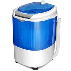 COSTWAY Washing Machine, Electric Compact Laundry Machines Portable Durable Design Washer Energy ...