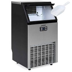 KUPPET Stainless Steel Commercial Ice Maker-Under Counter/Freestanding Automatic Ice Machine for ...