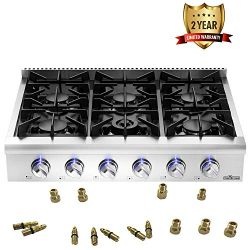 "Thor Kitchen Silver 36"" Pro-Style Gas Range Rangetop Cover Gas Stove Top Cooker Cooktop wi ..."