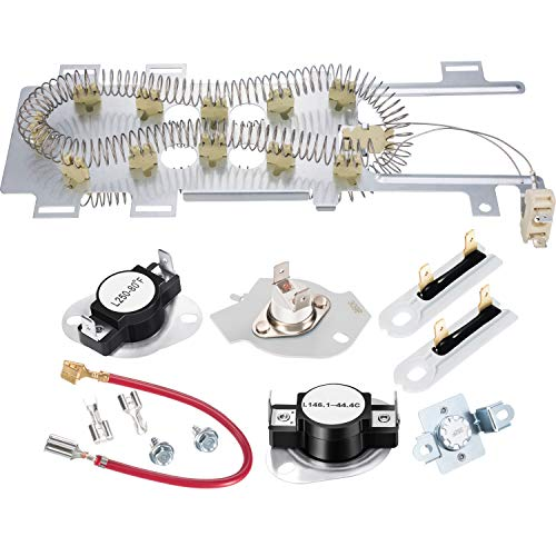 8544771 Dryer Heating Element, 279973 3392519 Thermal Fuse and 279816 Thermostat Dryer Replaceme ...