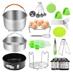 Antimi 21PCS Pressure Cooker Accessories Set For Instant Pot 5,6,8 QT, Steamer Basket, Springfor ...