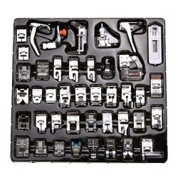 certainPL 52 Pcs Domestic Sewing Machine Presser Foot Feet Set Compatible for Babylock, Singer,  ...
