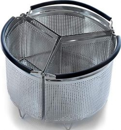 3-Piece Divided Steamer Basket for 3 Qt Pressure Cooker [6qt 8qt available] Compatible with Inst ...