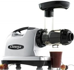 Omega J8006 Nutrition Center Quiet Dual-Stage Slow Speed Masticating Juicer Creates Continuous F ...