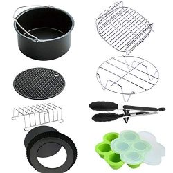 XL Air Fryer Accessories 8 Inch for Gowise Phillips Power Nuwave Farberware and Cozyna Air Fryer ...