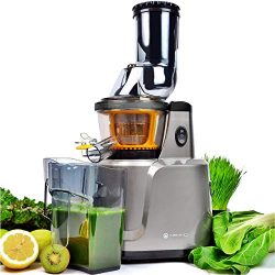 Juicer, Asmind Slow Masticating Juicer Extractor, Cold Press Low Speed Juicer with Brush to Clea ...