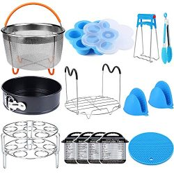 15 Pieces Pressure Cooker Accessories Set Compatible with Instant Pot Accessories 6 qt 8 Quart & ...