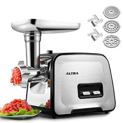 Electric Meat Grinder, ALTRA Stainless Steel Meat Mincer & Sausage Stuffer,【2000W Max】【Co ...