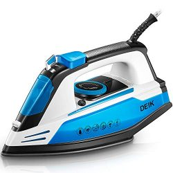 Deik Steam Iron, Vertical Steamer with Anti-Calcium System, Non-Stick Soleplate, Self-Cleaning F ...