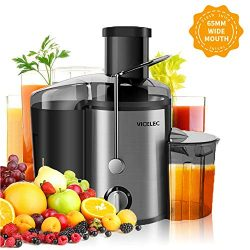 Juicer Extractor, VICELEC Extractor 600W Centrifugal Juicers Electric Anti-Drip Dual Speed BPA-F ...
