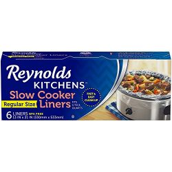 Reynolds Kitchens Premium Slow Cooker Liners – 13 x 21″, 6 Count