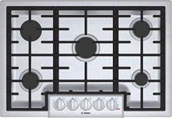 Bosch 800 Series 30″ Stainless Steel 5 Burner Gas Cooktop