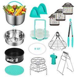 Instant Pot Accessories Set Compatible with 8,9 Qt – 8 Qt Steamer Basket, Springform Pan,  ...