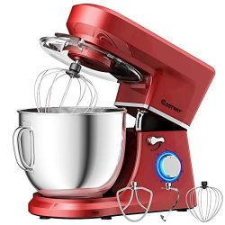 COSTWAY Stand Mixer, 660W Tilt-head Electric Kitchen Food Mixer with 6-Speed Control, 7.5-Quart  ...