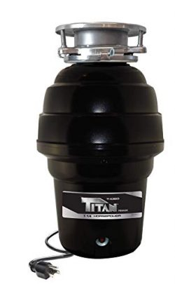 TITAN US-TN-T-1060 T-1060 Garbage Disposal, 1-1/4 HP – Premium, Black