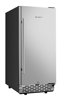 Phiestina 15 Inch Built-in Beer Froster Refrigerator – Stainless Steel Beverage Cooler Ref ...